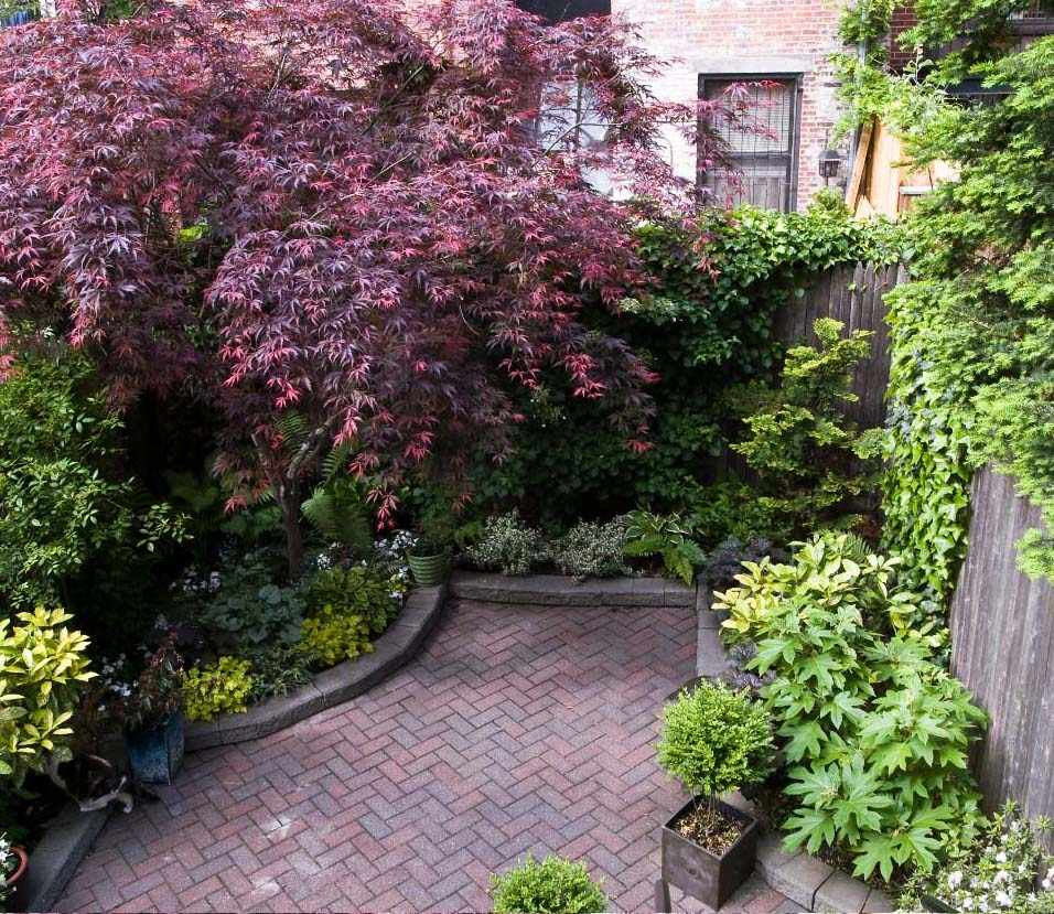 55 Small Urban Garden Design Ideas And Pictures: Townhouse Backyard Spaces